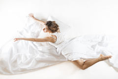 Dreaming of becoming ballet dancer Royalty Free Stock Photos