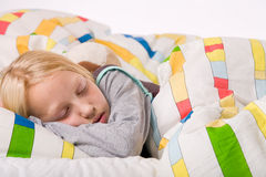 Dreaming blond child Royalty Free Stock Photography