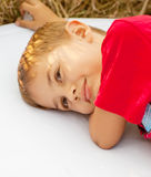 Dreaming boy Stock Image