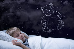Dreaming boy Royalty Free Stock Photo