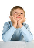 Dreaming boy royalty free stock images