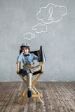 Dreaming boy Stock Images