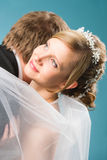 Dreaming bride Stock Images