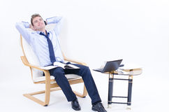 Dreaming business man at Office Stock Photography