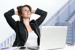 Dreaming business woman Stock Image