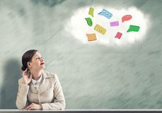 Dreaming businesswoman Royalty Free Stock Images