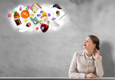 Dreaming businesswoman Royalty Free Stock Image