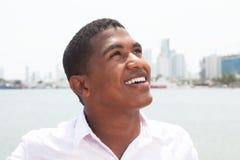 Dreaming caribbean guy outside Stock Image