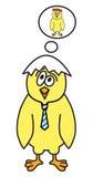 Dreaming chicken boy. Happy chicken teenager in love. Vector illustration Royalty Free Illustration