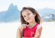 Dreaming child at Rio de Janeiro. Outdoor at the beach Stock Photos