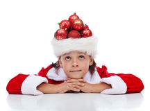 Dreaming of christmas Royalty Free Stock Image