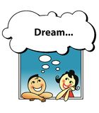 Dreaming Couple stock photos