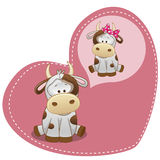 Dreaming Cow. Greeting card Cute Dreaming Cow royalty free illustration