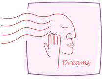 Dreaming girl Royalty Free Stock Photo