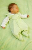 Dreaming girl. Dream of pretty little baby Stock Image