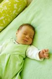 Dreaming girl. Dream of pretty little baby Royalty Free Stock Photo