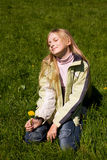 The dreaming girl Stock Image