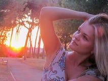 Dreaming girl Stock Image