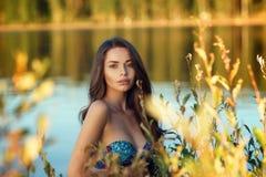 Dreaming girl in bikini Stock Photography