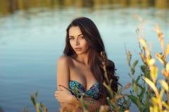 Dreaming girl in bikini Royalty Free Stock Photo