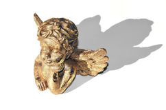 Dreaming golden guardian angel on a background Stock Images