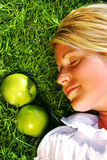 Dreaming in the grass Stock Photo