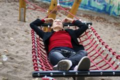 Dreaming in the hammock Royalty Free Stock Photo
