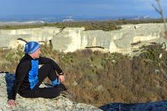Dreaming hiker Royalty Free Stock Image