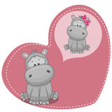 Dreaming Hippo Royalty Free Stock Images