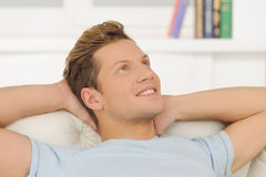 Dreaming at home. Stock Photography