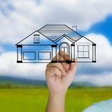 Dreaming house Stock Image