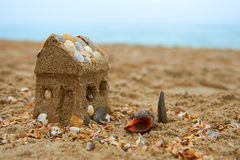 Dreaming about a house on the seashore. Dreaming about a small lovely house on the seashore Royalty Free Stock Photos