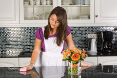 Dreaming in the kitchen royalty free stock photography