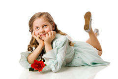 Free Dreaming Little Gir Royalty Free Stock Photography - 18634357