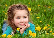 Dreaming little girl Royalty Free Stock Images