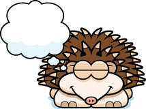 Dreaming Little Hedgehog Royalty Free Stock Images