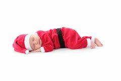 Dreaming Little Santa Stock Images