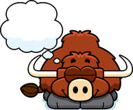 Dreaming Little Yak Royalty Free Stock Images