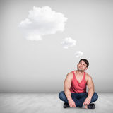 Dreaming man Stock Photo