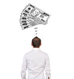 Dreaming on money Stock Images