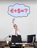 Dreaming about money Stock Photography
