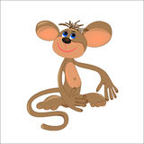 Dreaming monkey illustration Royalty Free Stock Images