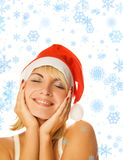 Dreaming Mrs. Santa Royalty Free Stock Images