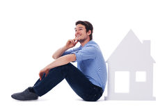 Dreaming about new home Stock Photos