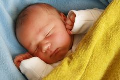 Dreaming newborn baby Royalty Free Stock Photography