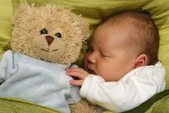 Dreaming newborn baby Royalty Free Stock Photos