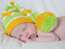 Dreaming newborn Royalty Free Stock Photography