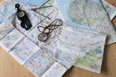 Planning the dream trip. Dreaming and planning the trip you always wanted to do stock photo