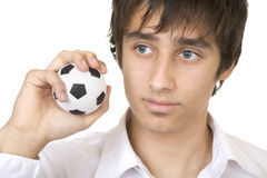 Dreaming of playing football Royalty Free Stock Photos
