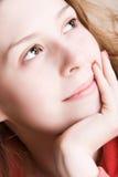 dreaming portrait woman στοκ εικόνα με δικαίωμα ελεύθερης χρήσης